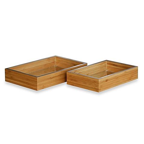 Maxwell bamboo decorative vanity tray bed bath beyond for Decorative bathroom tray