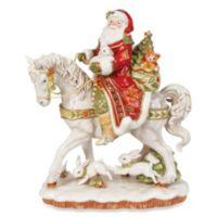Fitz and Floyd® Damask Holiday Santa on Horse Figurine