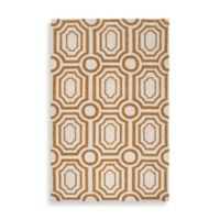 angelo:HOME Hudson Park Geometric 3-Foot 3-Inch x 5-Foot 3-Inch Rug in Gold/White