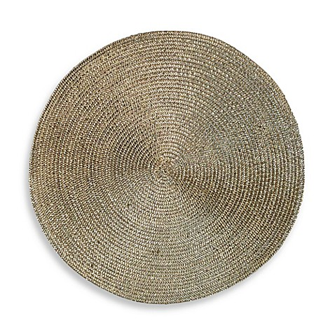 Shine Round Placemat In Brass Bed Bath Amp Beyond