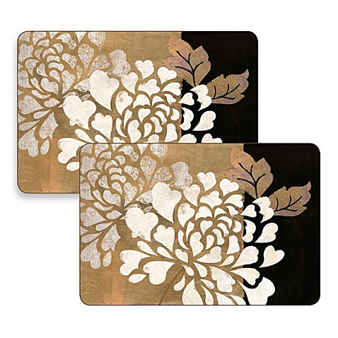 Glamour Of Gold Hardboard Placemats Set Of 2 Bed Bath
