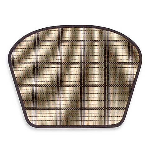 Wedge Shaped Bamboo Placemat In Natural Chocolate Bed