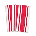 Heavyweight Striped Kitchen Towels in Red (Set of 3)
