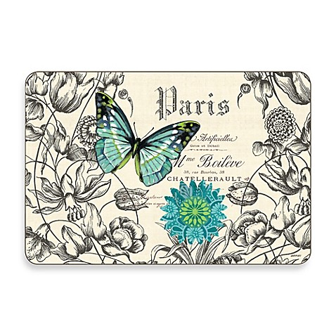 Jason Butterflies Multi-View Hardboard Cork-Backed Placemats (Set of 4)