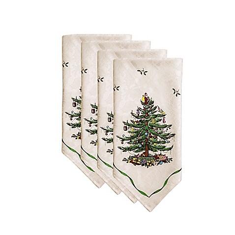 Spode 174 Christmas Tree Napkins Set Of 4 Bed Bath Amp Beyond