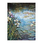 "Michael Longo ""Iris and Lily Pads  Canvas Print"