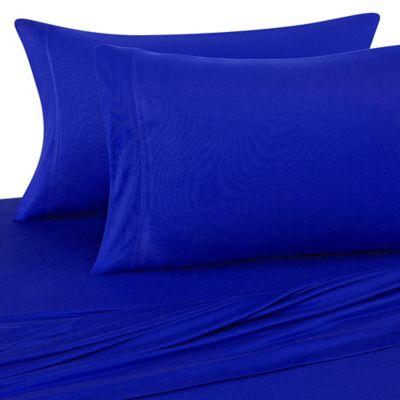 pure beech 100 modal jersey knit standard pillowcases in black - Jersey Knit Sheets