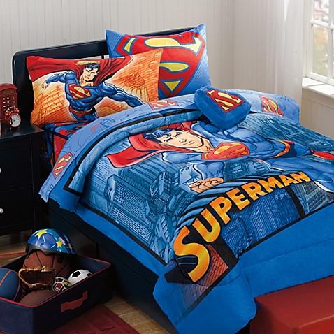Superman Super Upper Hand Bedding Set Bed Bath Amp Beyond