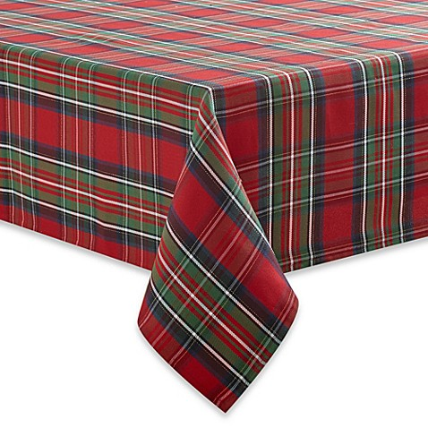 Elegant Tartan Plaid Tablecloth