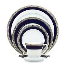 Noritake 174 Crestwood Cobalt Platinum Dinnerware Collection