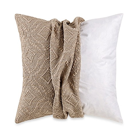 Myop Throw Pillow Covers : MYOP Ashbury Square Throw Pillow Cover in Taupe - Bed Bath & Beyond