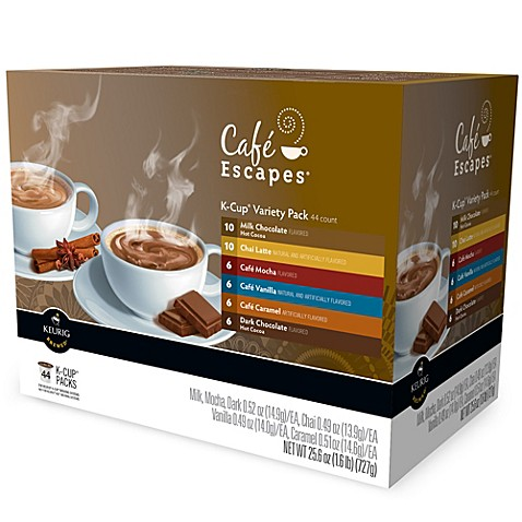 kcup 44count cafe escapes variety pack
