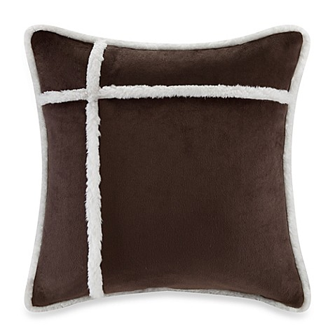 Down Alternative Decorative Pillows : The Seasons Reversible Down Alternative Square Throw Pillow in Chocolate - Bed Bath & Beyond