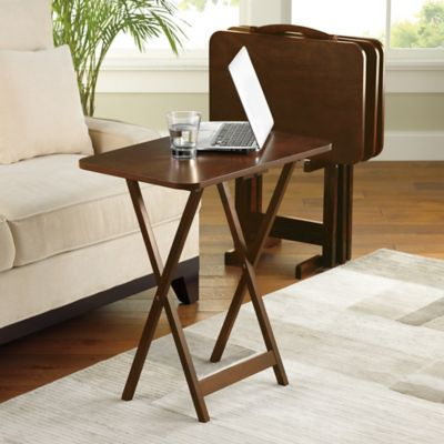 Hamilton 5 Piece Snack Tray Table Set