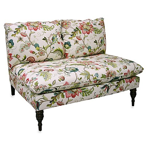 Skyline Furniture Armless Chaise in Brissac Jewel