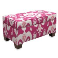 Skyline Furniture Storage Bench in Himalaya Raspberry