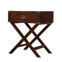 Accent Table with Cross Leg Nightstand