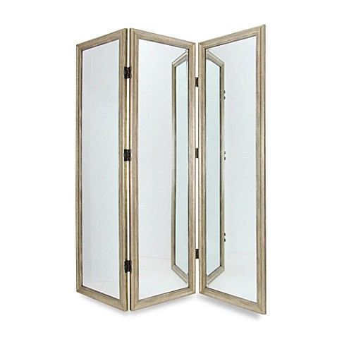Full Size 3 Panel Dressing Mirror Room Divider Screen