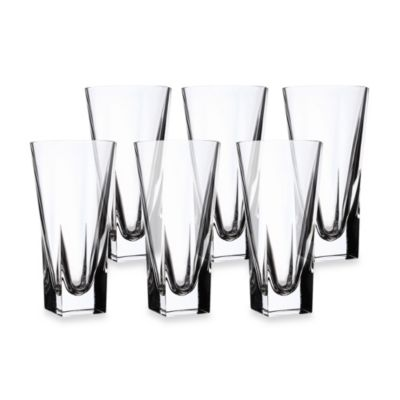 lorren home trends fusion crystal highball glass set of 6 - Highball Glasses