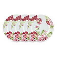 Kathy Ireland Home by Gorham Blossoming Rose 4-Piece Canape Plate Set  sc 1 st  Bed Bath \u0026 Beyond & Kathy Ireland Home by Gorham Blossoming Rose Dinnerware Collection ...