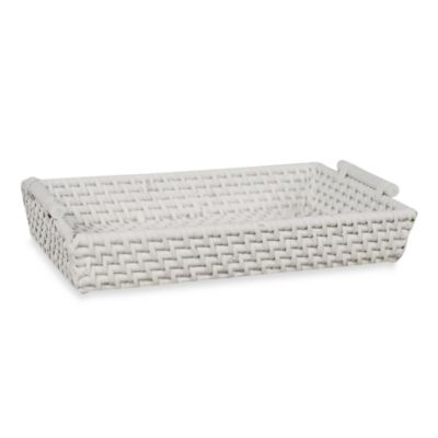 White Bathroom Guest Towel Holder From Bed Bath Beyond