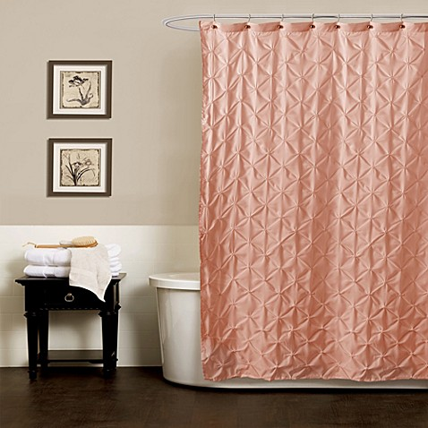 Buy Noelle Pintuck 72 Inch X 84 Inch Shower Curtain In Peach From Bed Bath Beyond