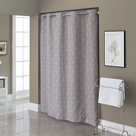 Hookless Embroidered Diamond 71 Inch X 74 Inch Fabric Shower Curtain And Liner Set Bed Bath