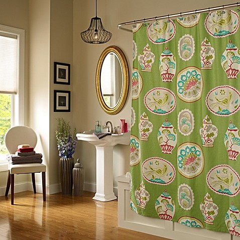 Ginger 72 Inch X 72 Inch Shower Curtain In Peachy Green Bed Bath Beyond
