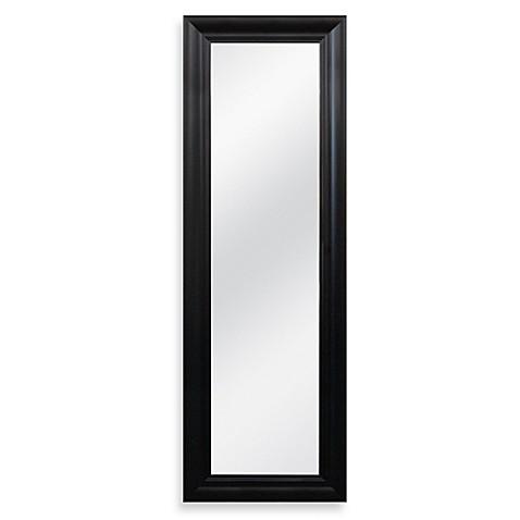 No Tools Over The Door Mirror In Black Bed Bath Amp Beyond