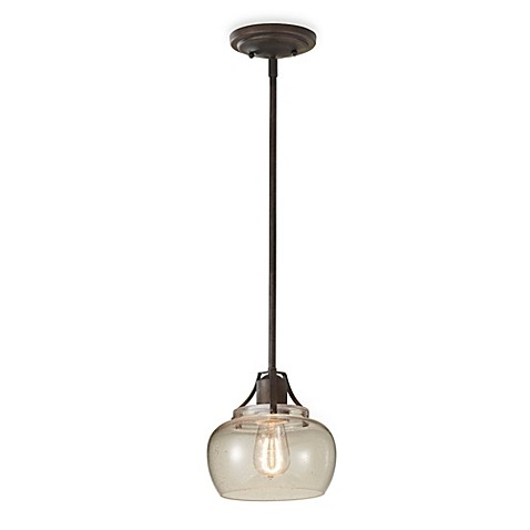 Feiss Rustic Iron Mini Pendant Light Bed Bath Beyond