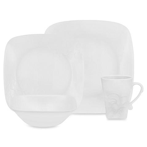 Corelle® Boutique Cherish Embossed Square 16-Piece Dinnerware Set - Bed Bath u0026 Beyond  sc 1 st  Bed Bath u0026 Beyond & Corelle® Boutique Cherish Embossed Square 16-Piece Dinnerware Set ...