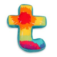 "One Grace Place Terrific Tie Dye Decorative Letter ""T"" Pillow"