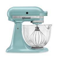 KitchenAid® 5-Quart Artisan® Design Series Stand Mixer with Glass Bowl in Azure Blue