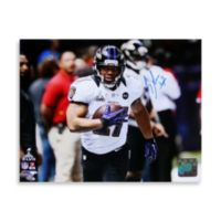 Baltimore Ravens Ray Rice in Purple Jersey Running Signed 8-Inch x 10-Inch Photo