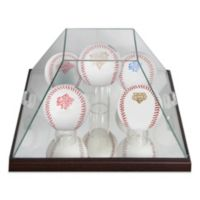 Glass Pyramid 5-Ball Baseball Display Case