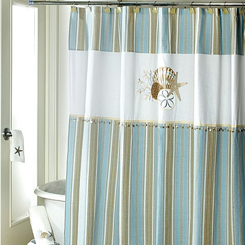 Avanti By the Sea 72-Inch x 72-Inch Shower Curtain - Bed Bath & Beyond