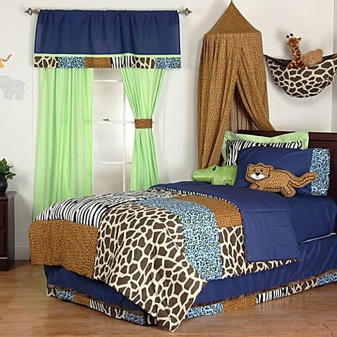 one grace place jazzie jungle twin bedding ensemble bed bath beyond. Black Bedroom Furniture Sets. Home Design Ideas