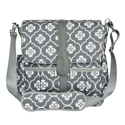 jj cole backpack diaper bag in grey floret buybuybaby. Black Bedroom Furniture Sets. Home Design Ideas