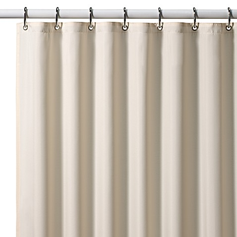 hotel fabric 70inch x 72inch shower curtain liner in ivory