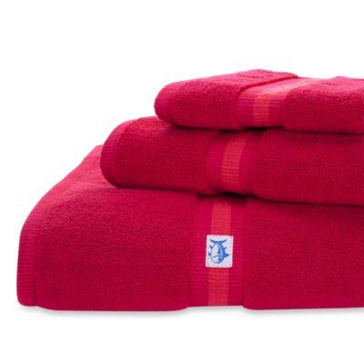 Southern Tide Skipjack Wash Towel in Red