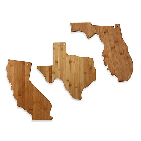 totally bamboo state shaped cutting serving board bed bath beyond. Black Bedroom Furniture Sets. Home Design Ideas