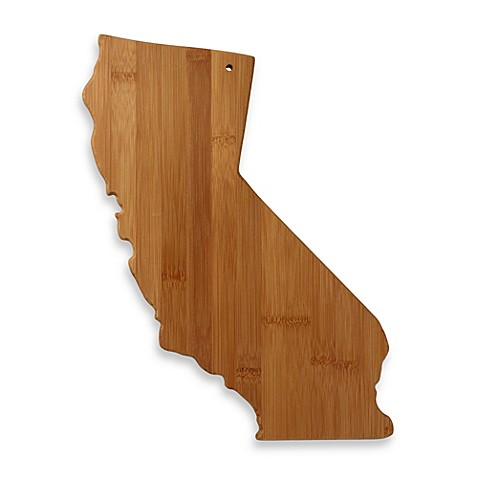 totally bamboo california state shaped cutting serving board bed bath beyond. Black Bedroom Furniture Sets. Home Design Ideas