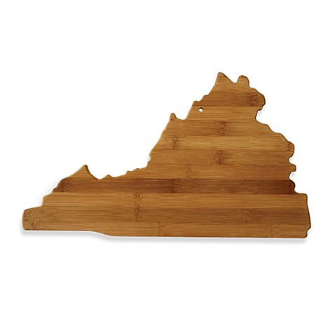 totally bamboo virginia state shaped cutting serving board bed bath beyond. Black Bedroom Furniture Sets. Home Design Ideas
