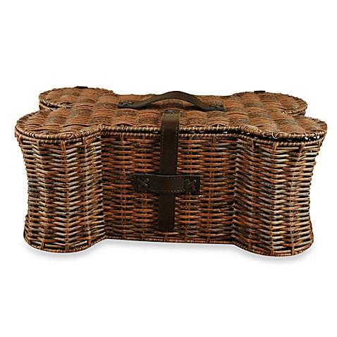 Bone Shaped Pet Toy Small Storage Basket - Bed Bath & Beyond