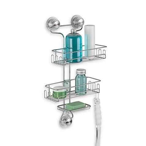 InterDesignR Power Lock UltraTM 3 Tier Shower Caddy In Silver