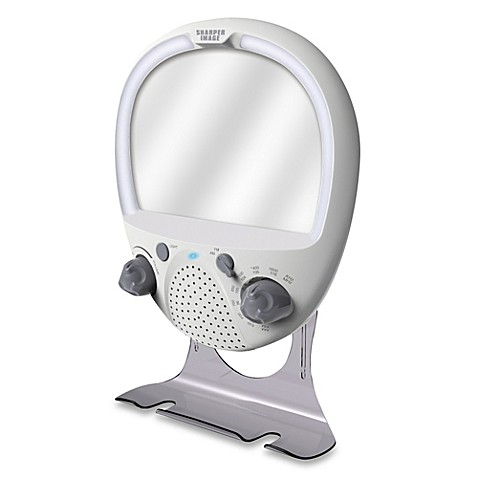 Sharper Image® LED Shower Radio And Anti Fog Mirror