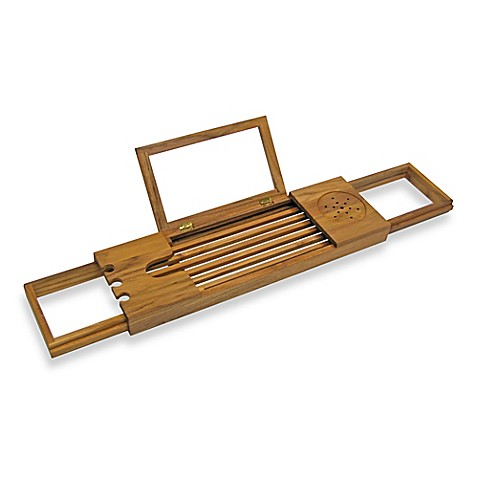image of Teak Bathtub Caddy