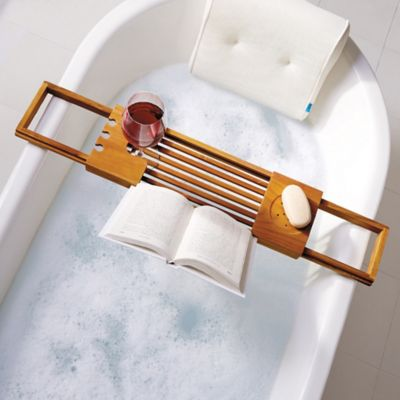 Product Image For Teak Bathtub Caddy 4 Out Of