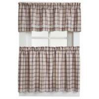 Dover 36-Inch Window Curtain Tier Pairs in Burgundy