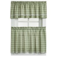 Dover 24-Inch Window Curtain Tier Pair in Green